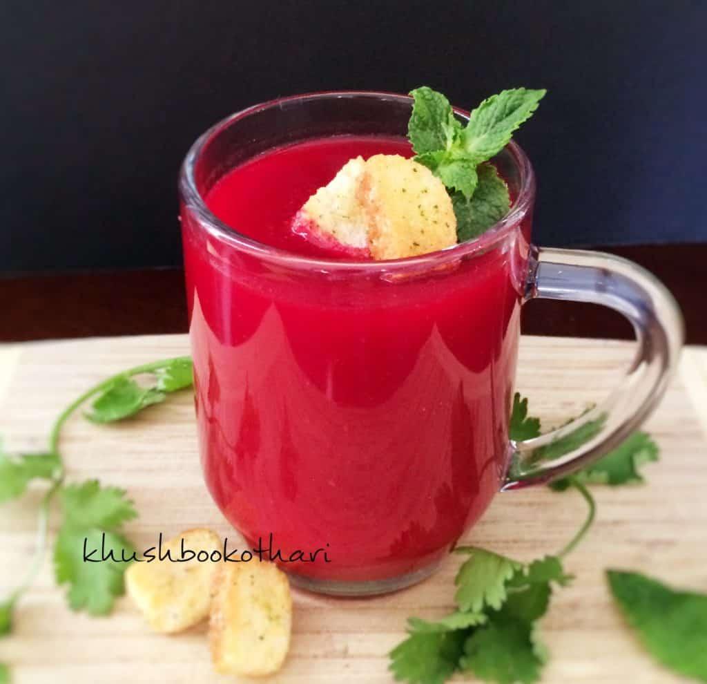 Tomato beetroot soup