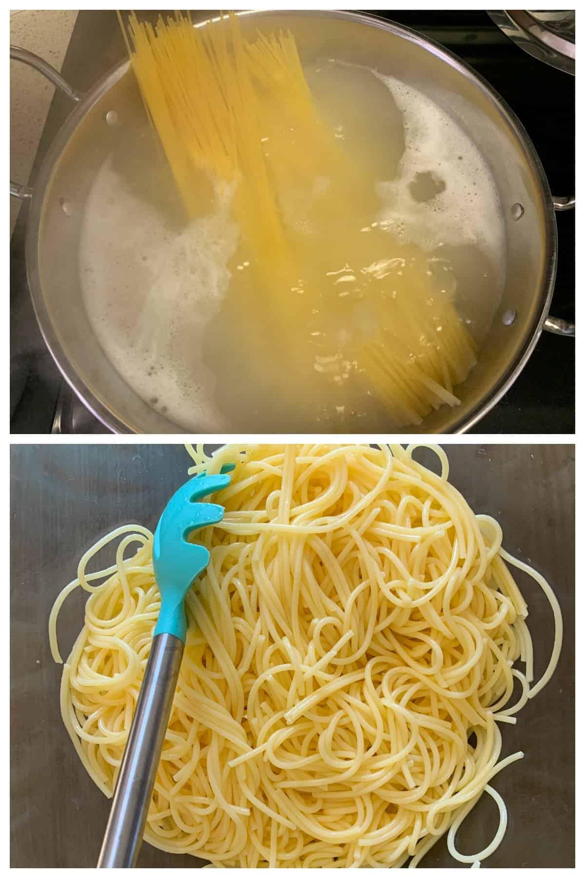 Gluten-free spaghetti cooked al dente