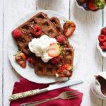 Easy Chocolate waffles and pancakes (eggless) (vegan)