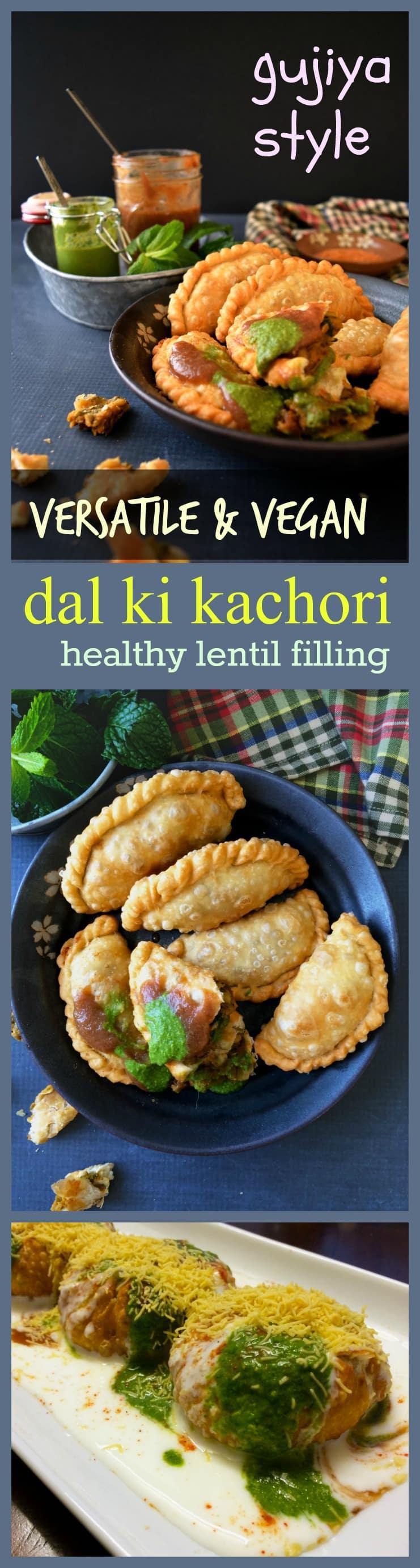 easy dal ki kachori - gujiya style