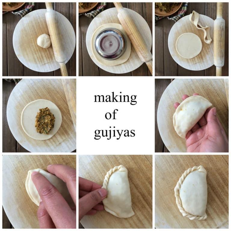 gujiya making Collage