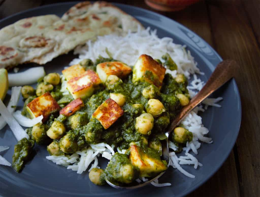 kale saag with chickpea & tofu vegan gluten free