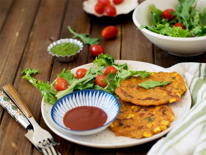 Vegan oats chickpea veggies pancakes | indian pudla | besan oats cheela