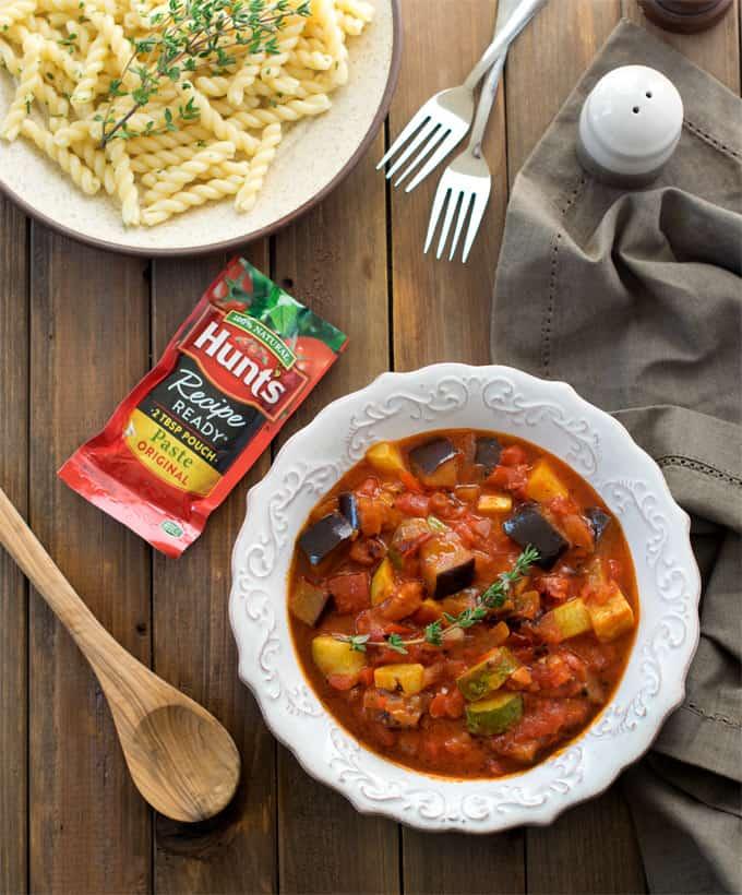skillet-raratouille-pasta-sauce