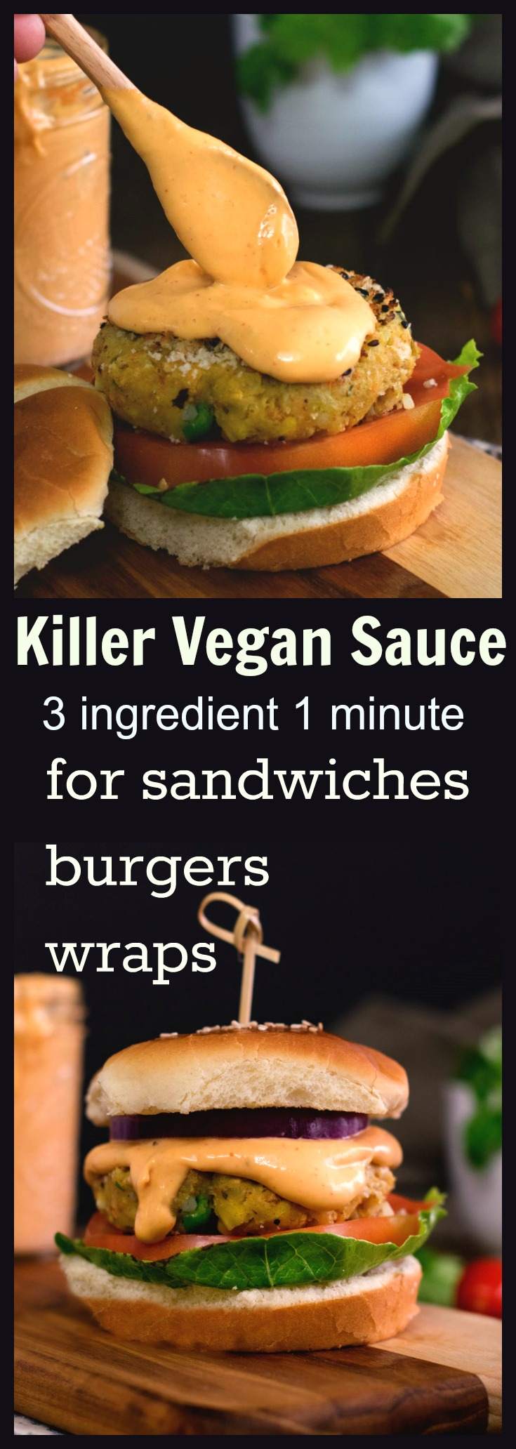 Vegan spicy sauce for burgers sandwiches