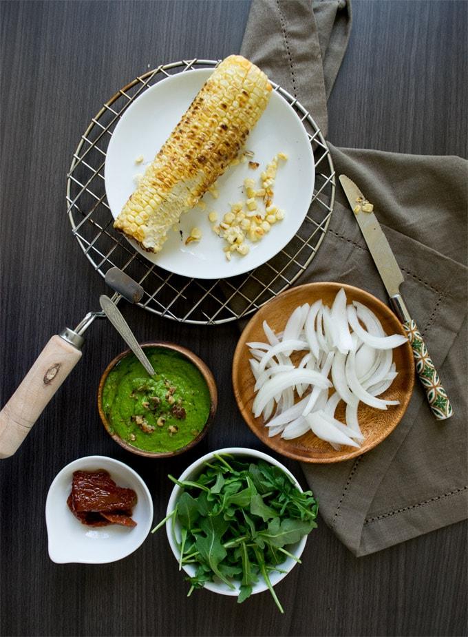 arugula-pesto-pasta-gluten-free-vegan