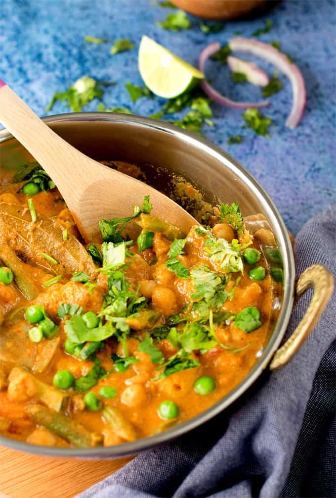 Chickpea Vegetable korma / Instant pot Veg Kurma