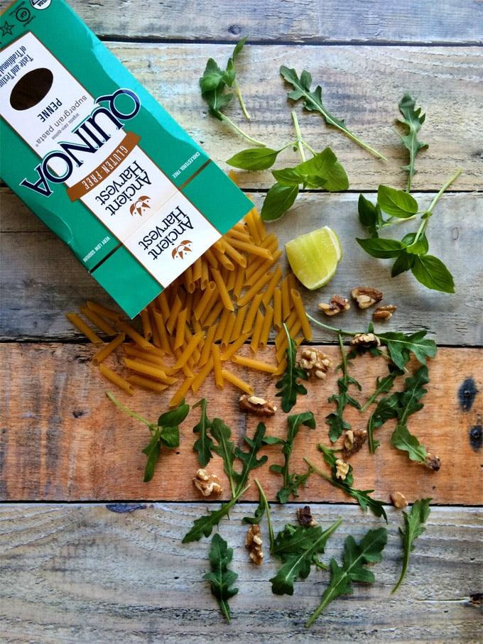 quinoa-pasta-with-arugula-pesto-vegan