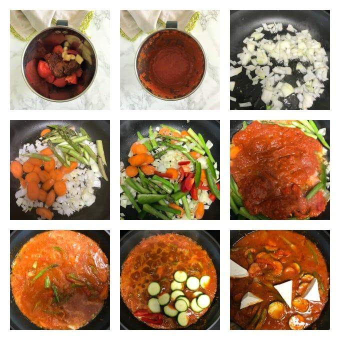 Jungle curry vegan making