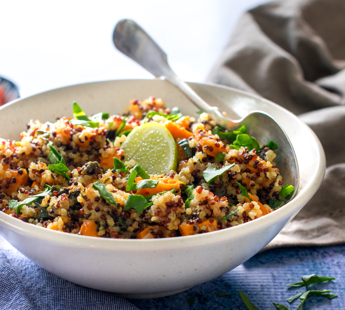 Instant Pot Curried Quinoa Spinach Sweet Potato Under 20