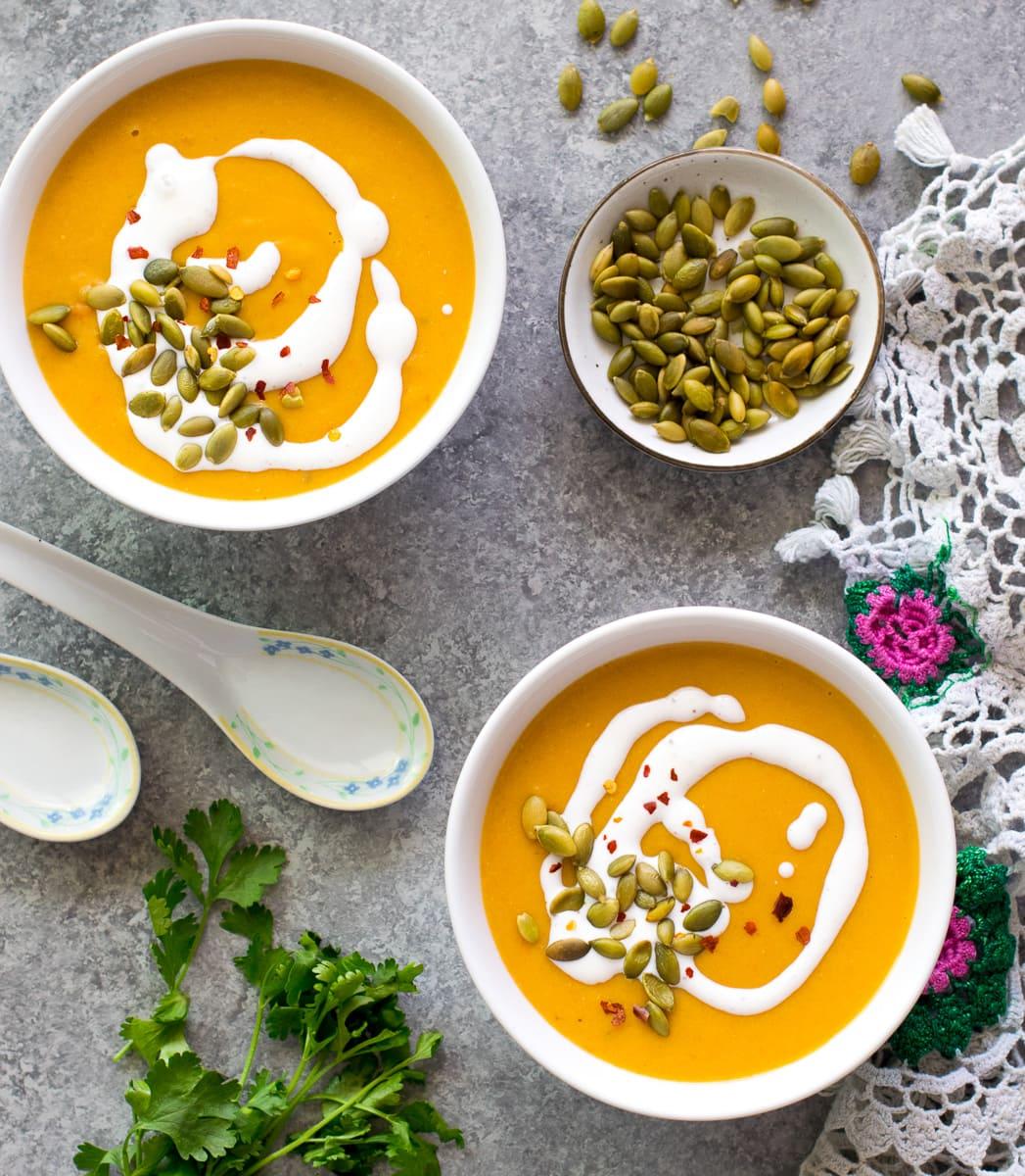 Indian Vegetarian Mulligatawny soup (Instant Pot) pressure cooker recipe