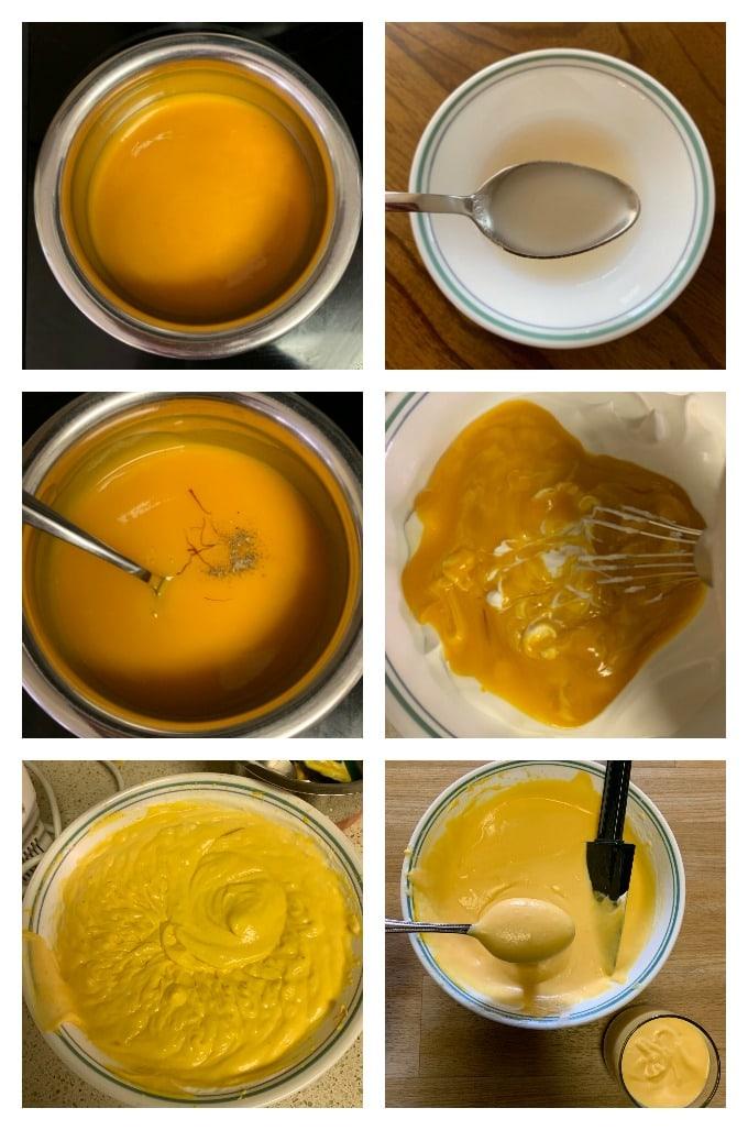 Making of mango mousse