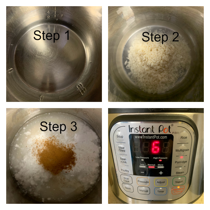 Making of Rice Pudding in an Instant Pot