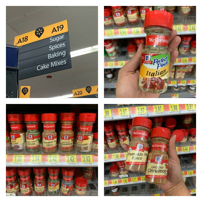 McCormick® Spices Picked up from Walmart