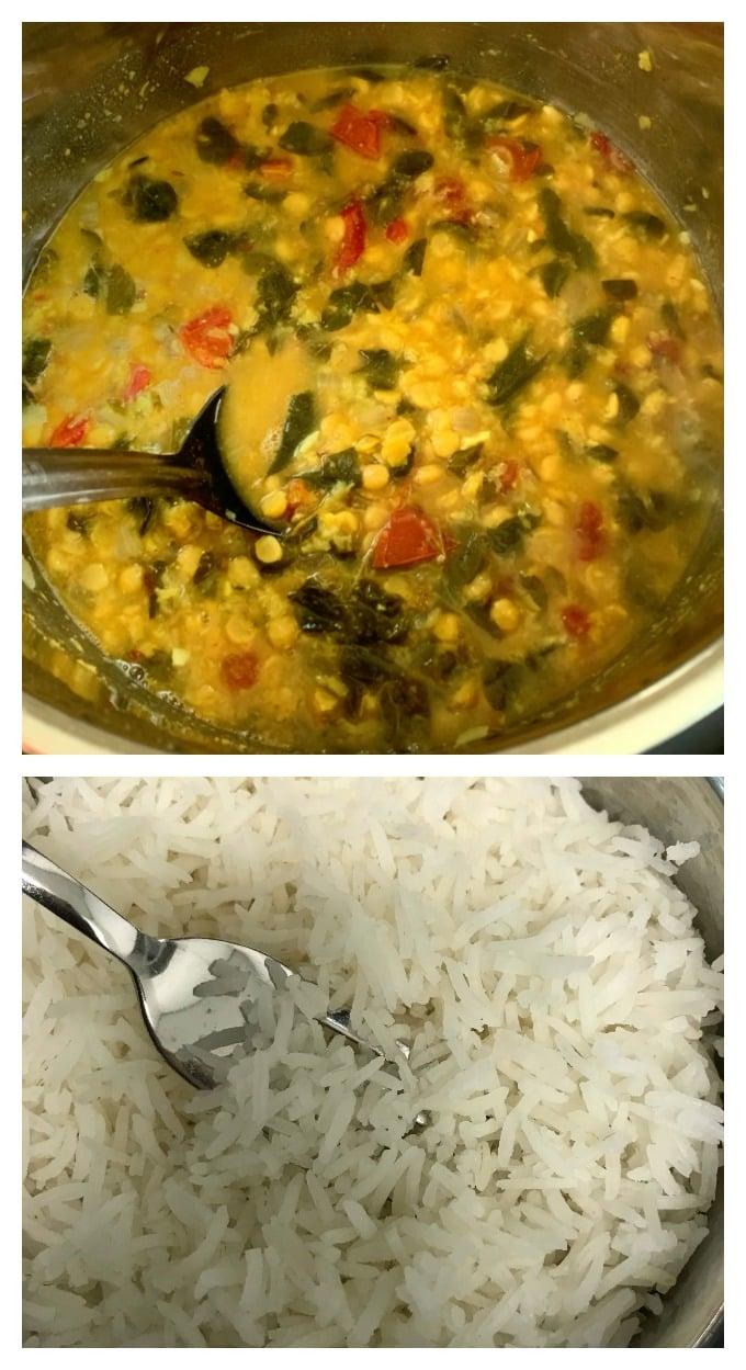 Instant Pot Moringa dal & Rice