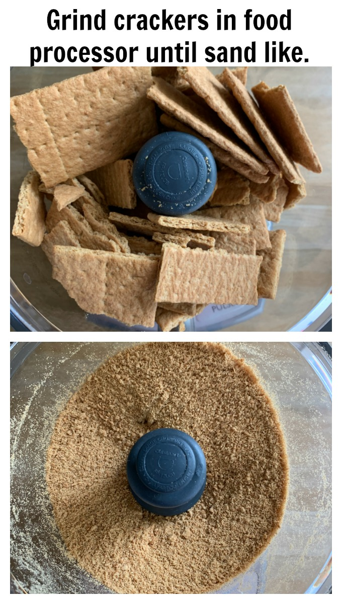 Grind crackers in a food processor