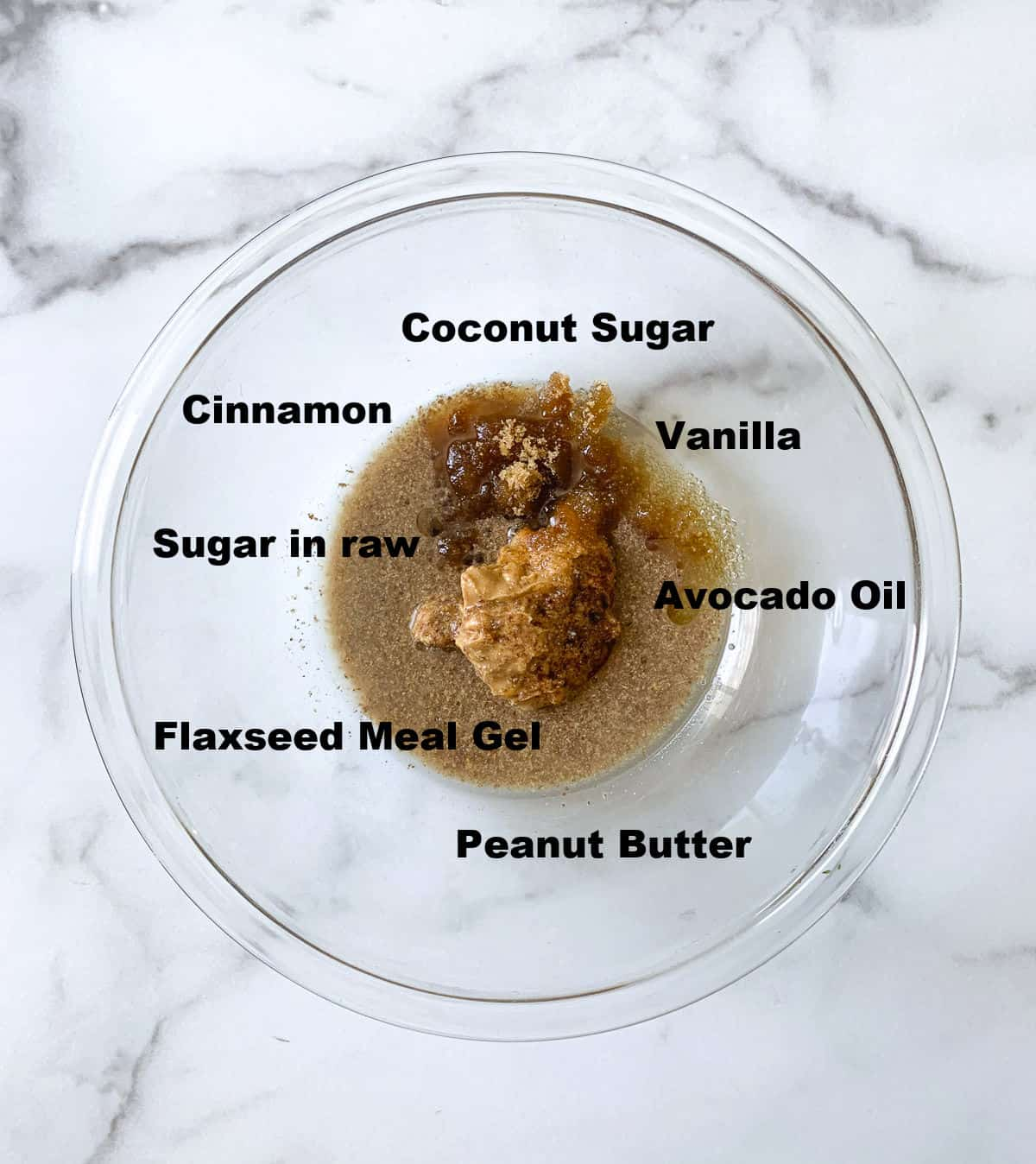 All ingredients to cream with peanut butter in a bowl