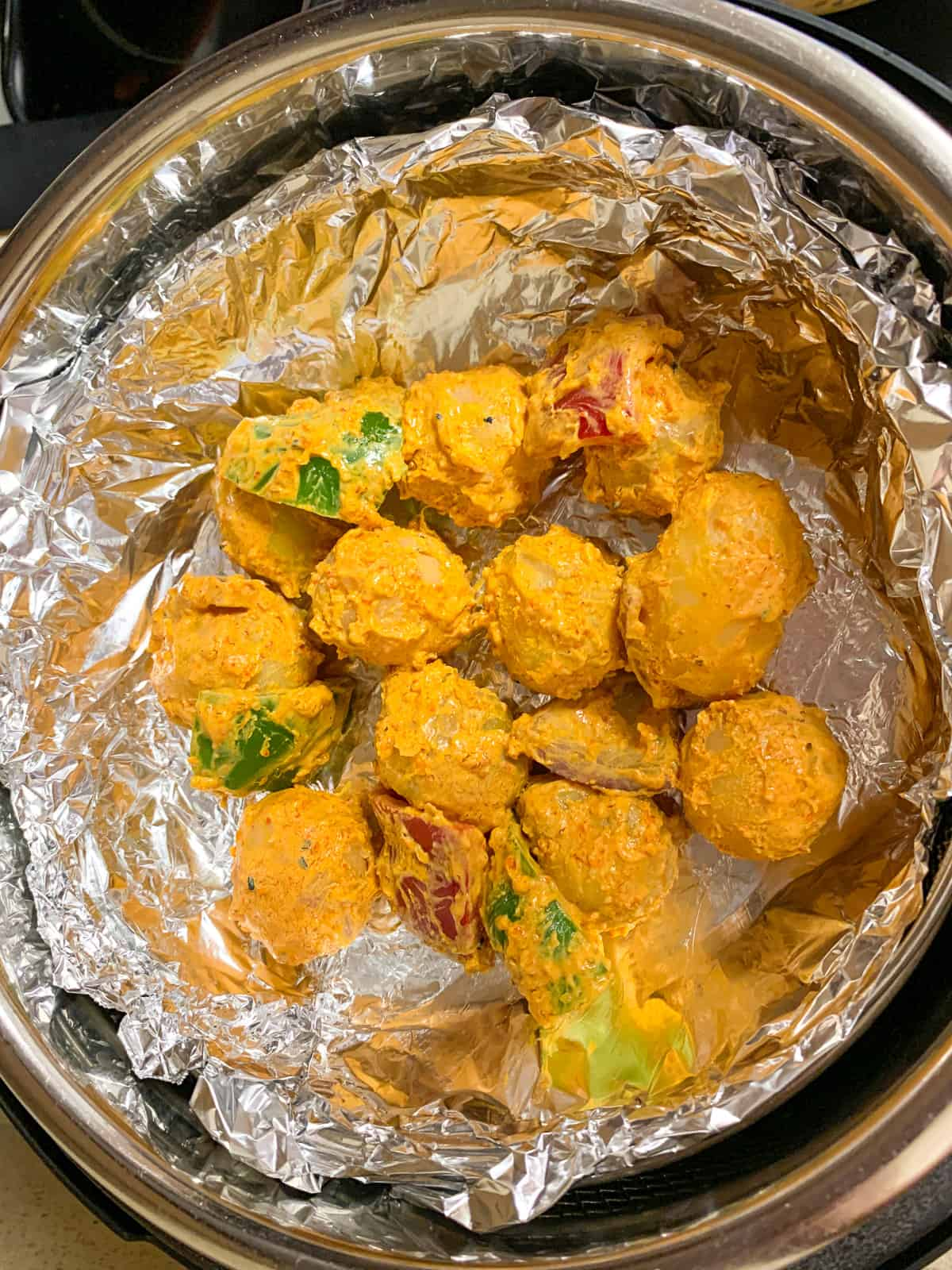 Cooking aloo for making tikkas in an Instant Pot