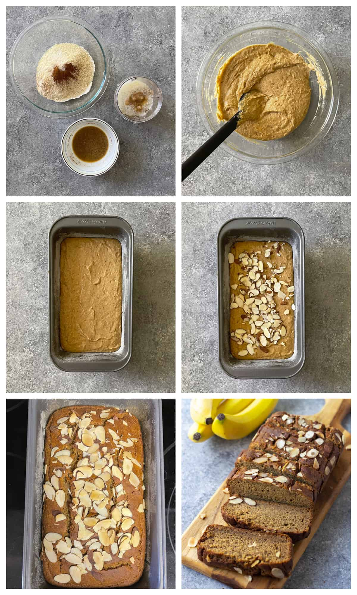 Step by step making of banana bread at home