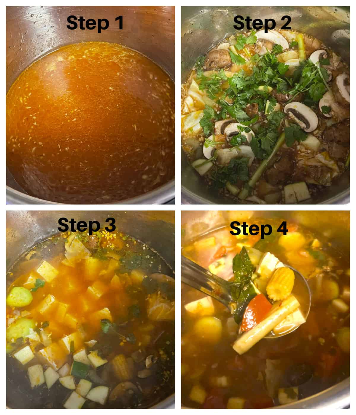 Making tom yum soup in an instant pot