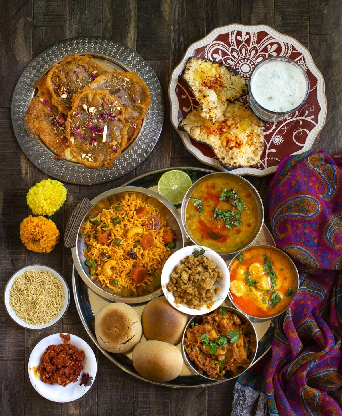 Homemade Authentic rajasthani thali